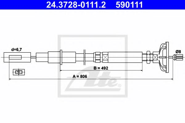 VAG 191 721 355 A Clutch Cable