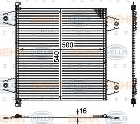 HELLA 8FC 351 029-091 Condenser, air conditioning