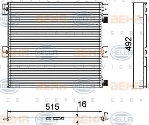 HELLA 8FC 351 029-351 Condenser, air conditioning