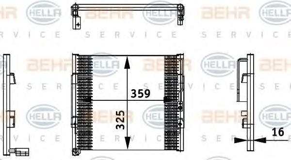 8fc351035731 hella 8fc 351 035 731 condenser air for Honda civic a13 service