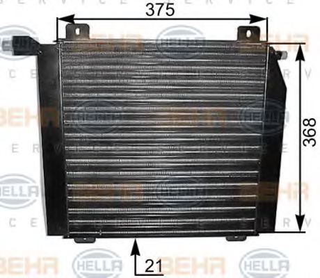 HELLA 8FC 351 037-401 Condenser, air conditioning