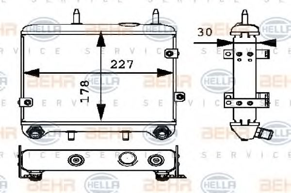 Van Wezel 30003533 Oil Cooler engine oil