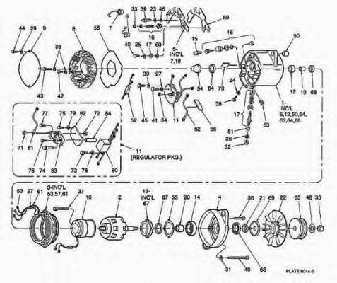 1117235 delco remy 1117235 alternator