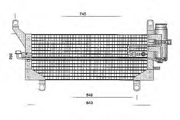 OM 46432043 Condenser, air conditioning