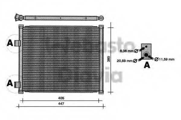 OM 97KW19710AF Condenser, air conditioning