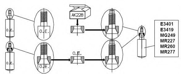 Monroe AK041 Screw Kit suspension strut//wheel bearing housing