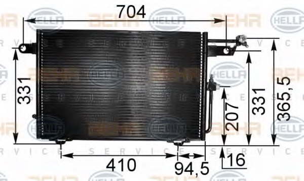 HELLA 8FC 351 035-531 Condenser, air conditioning