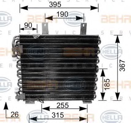 HELLA 8FC 351 035-621 Condenser, air conditioning