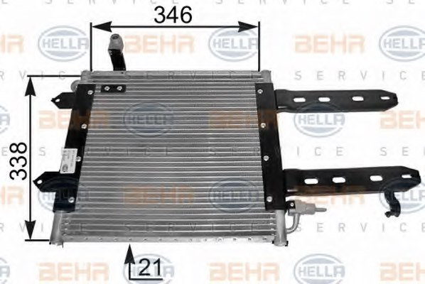 HELLA 8FC 351 037-421 Condenser, air conditioning