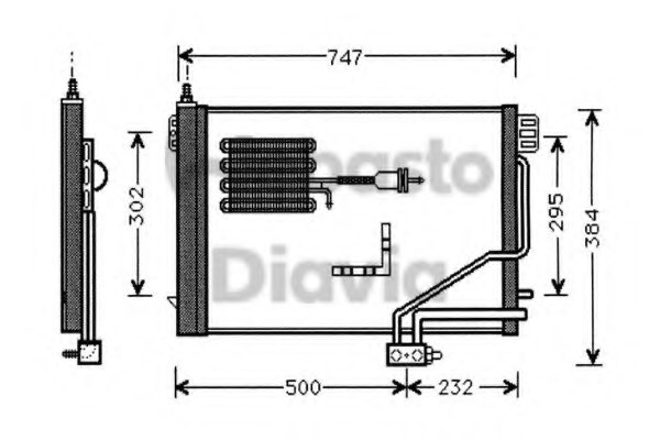 OM A2035000254 Condenser, air conditioning