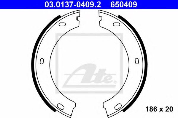 set of 4 parking brake Ferodo FSB425 Brake Shoe Set