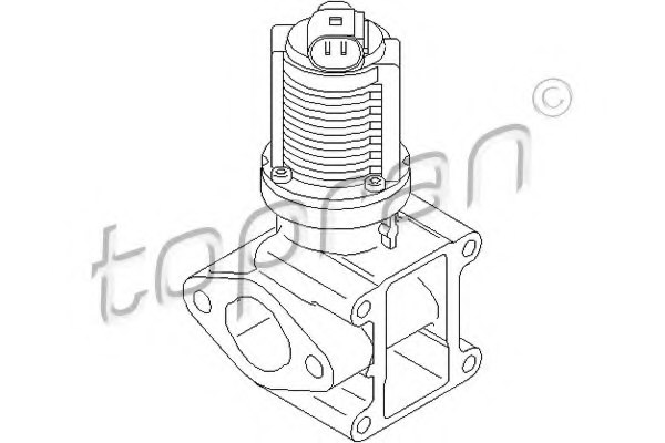 207441 topran 207 441 egr valve for opel