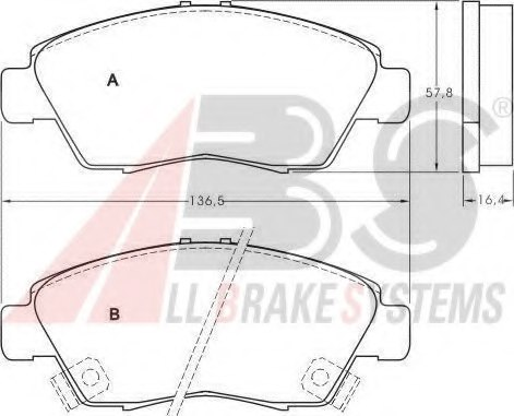 45022S5AJ00 DISC BRAKE PAD SET FR AN 377WK 45022 SD5 40 AKEBON