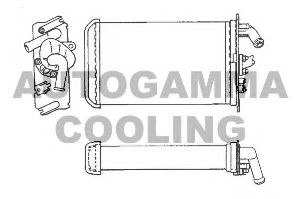 101690 autogamma 101690 heat exchanger  interior heating for citro n fiat peugeot
