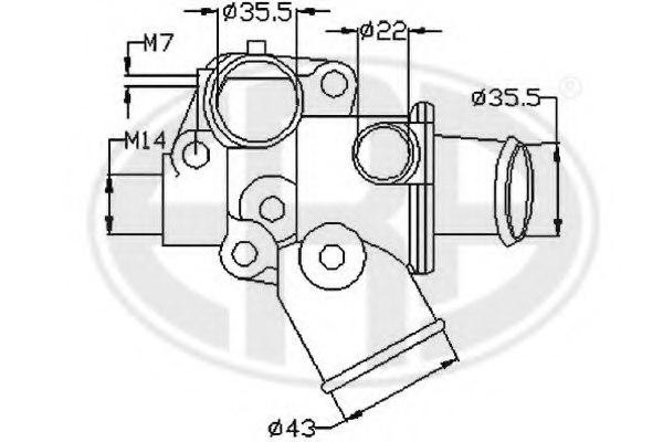 350186 era 350186 thermostat  coolant for alfa romeo fiat