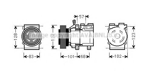 hyak324 prasco hyak324 compressor  air conditioning for