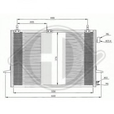 FORD 95GW19710BD Condenser, air conditioning
