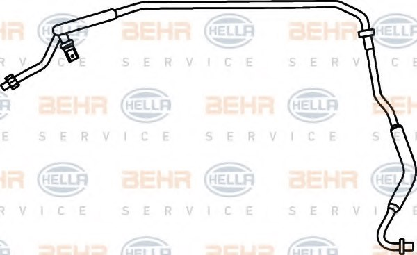 9GS 351 337-031 HELLA High Pressure Line air conditioning