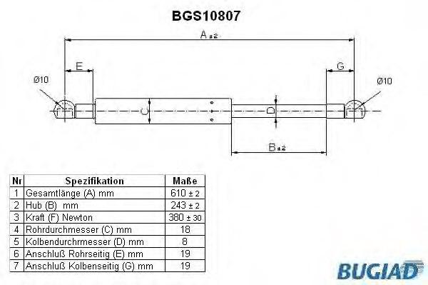 91251 MAPCO Gas Spring boot-//cargo area