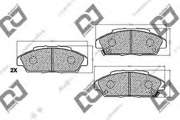 45022SM2020 DISC BRAKE PAD SET FR 45022 S84 A0 S01 A01 AKEBONO