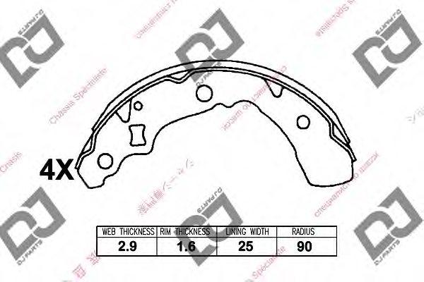 0449597211000 daihatsu 0449597211000 brake shoe set for