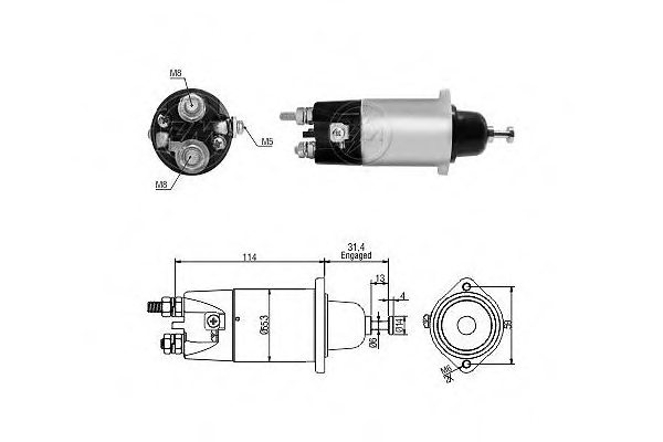 ERA 227379 Solenoid Switch, starter