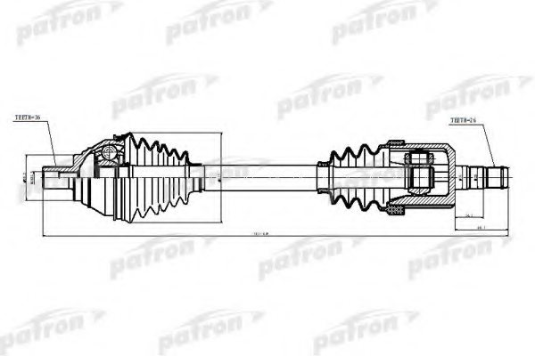 VW 3C0407271D Drive Shaft