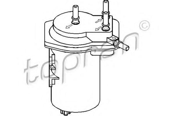 700560 topran 700 560 fuel filter for renault