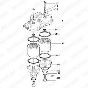 2656820 perkins 2656820 fuel filter for perkins