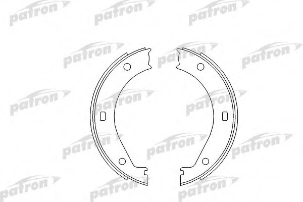 psp272 patron psp272 brake shoe set  parking brake for