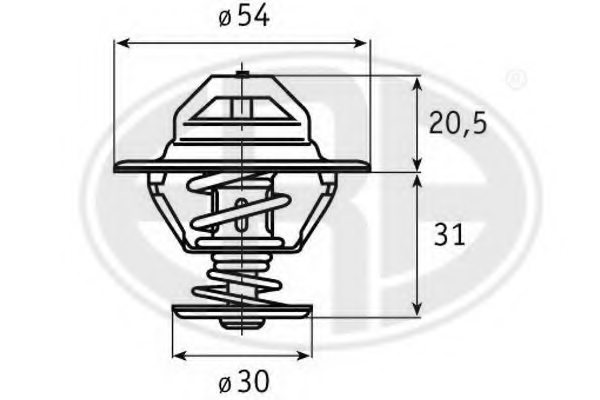 350224 era 350224 thermostat  coolant for mitsubishi saab