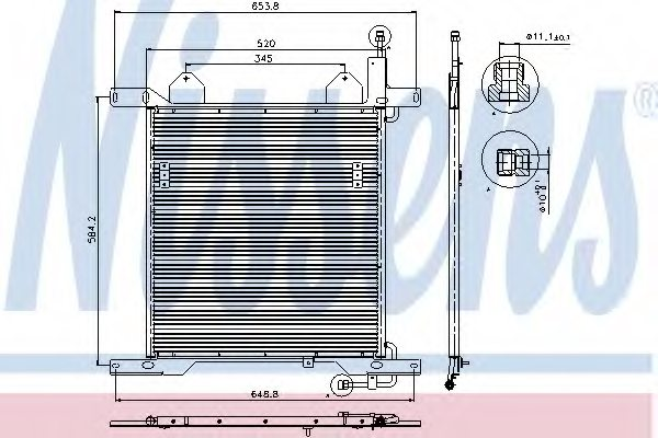 GINAF 1327759 Condenser, air conditioning