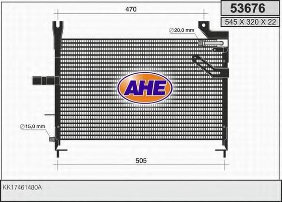 KIA KK17461480A Condenser, air conditioning