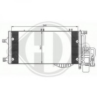 GENERAL MOTORS 93175765 Condenser, air conditioning