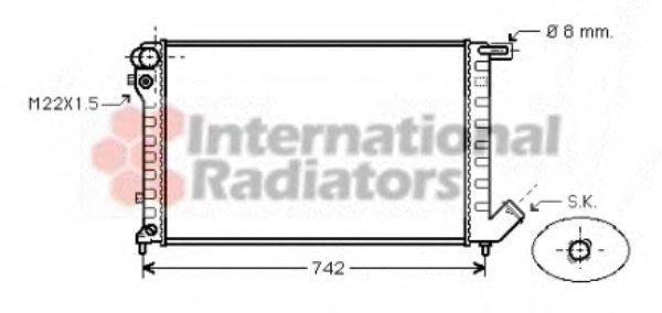 09002159 van wezel 09002159 radiator  engine cooling for