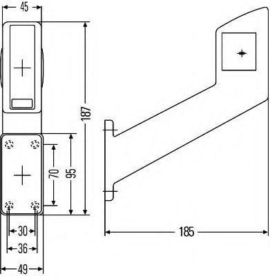 2XS 955 260-001 HELLA Marker Lamp R5W Vehicle Parts & Accessories ...