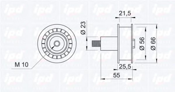 150140 ipd 15 guide pulley  timing belt
