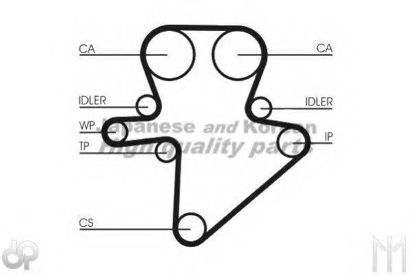 us107502 ashuki us107502 timing belt for chrysler