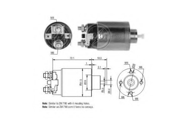 227778 era 227778 solenoid switch  starter for nissan