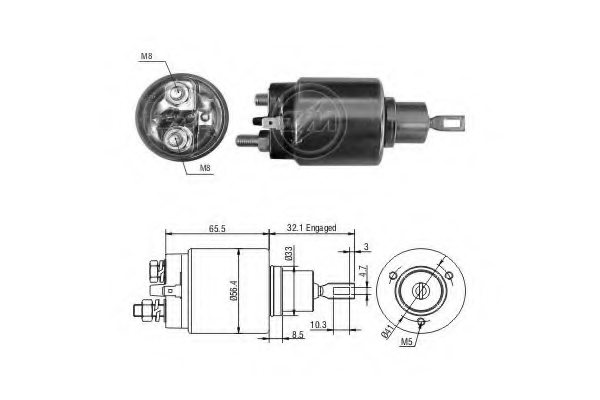 227875 era 227875 solenoid switch  starter for nissan