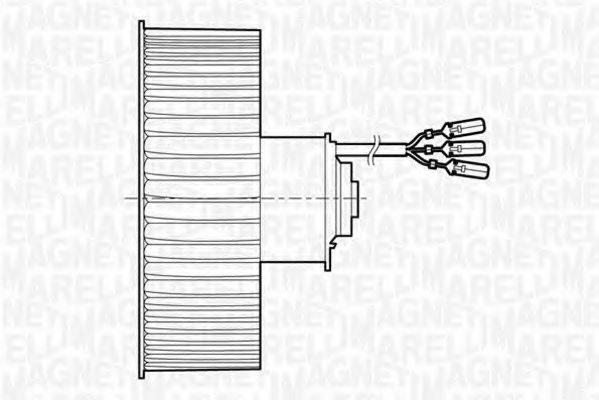 069401199010 magneti marelli 069401199010 electric motor  interior blower for fiat