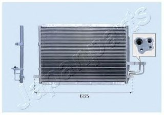 KIA 0K2FA61480 Condenser, air conditioning