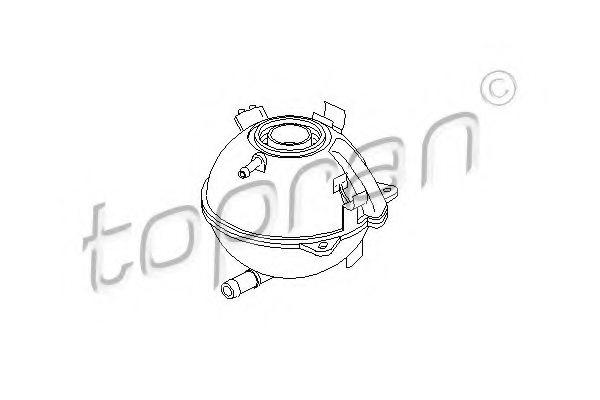 110055 topran 110 055 expansion tank  coolant for audi