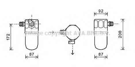 OPEL 1848048 Dryer, air conditioning