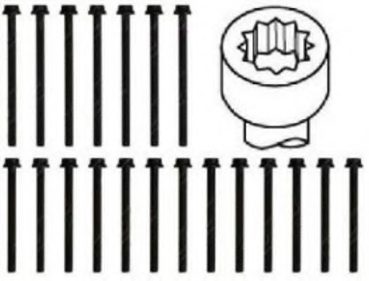 VW 022103384L Bolt Kit, cylinder head