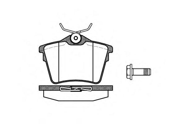 2110300 roadhouse 21103 00 brake pad set  disc brake for