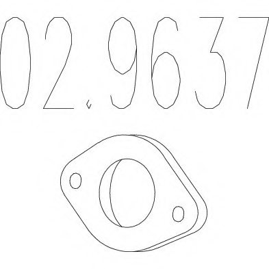 029637 mts 02 9637 gasket  exhaust pipe for chevrolet