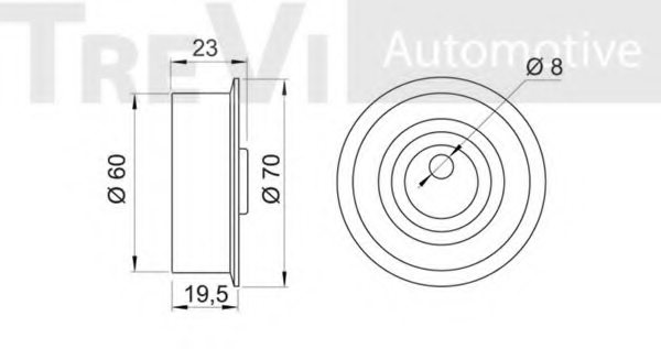 TREVI AUTOMOTIVE TD1175 Tensioner Pulley, timing belt