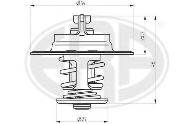 46741690 fiat 46741690 thermostat  coolant for fiat iveco