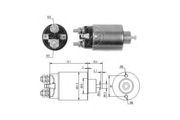m371x97275 mitsubishi m371x97275 solenoid switch  starter